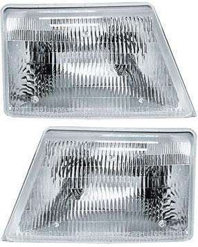 Headlight Set Compatible with 1998-2000 Ford Ranger Left Driver and Right Passenger Side Halogen With bulb(s)