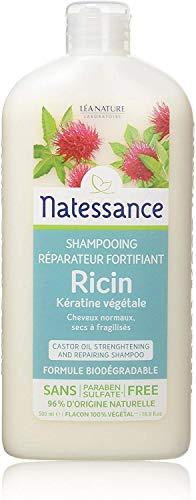 Natessance Capillaire Shampooing À L'huile de Ricin et Kératine Végétale 500 ml