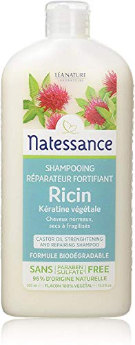avis shampooing bio professionnel Huile de ricin et kératine végétale 500ml Natesans Capillary Shampoo