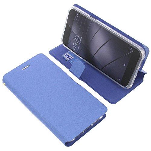 foto-kontor Tasche für Gigaset Me Pure Book Style blau Schutz Hülle Buch