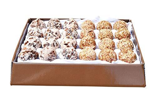 Bio Badepralinen Geschenkset 24 Stk Vegan Schokolade und Cranberry Höchste Qualität - Handgefertigte Badekugeln aus Österreich