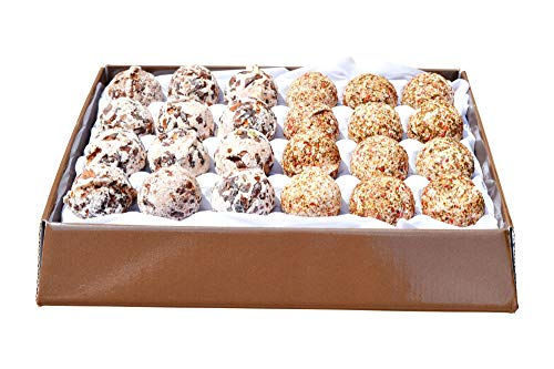Bio badpralines cadeauset 24 stuks veganistische chocolade en cranberry hoogste kwaliteit - handgemaakte badballen uit Oostenrijk
