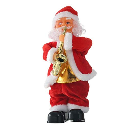 ACMEDE Bambola di Babbo Natale Che Si muove danzando cantando Babbo Natale Figura Musicale Giocattolo per Bambini