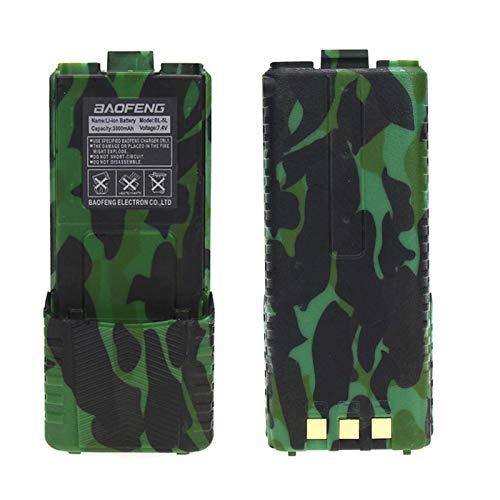 Paquete de Batería Extendida BL-5L 3800mAh para UV-5R UV-5RA UV-5RB UV-5RC UV-5RD UV-5RE 5R-A + UV-5RTP Batería de Radio Serie BF-F8HP (Camuflaje) (1 Pack)
