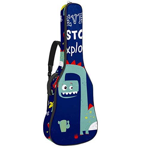 Bolsa para Guitarra Dinosaur Blue Nunca dejes de explorar Funda para Guitarra...