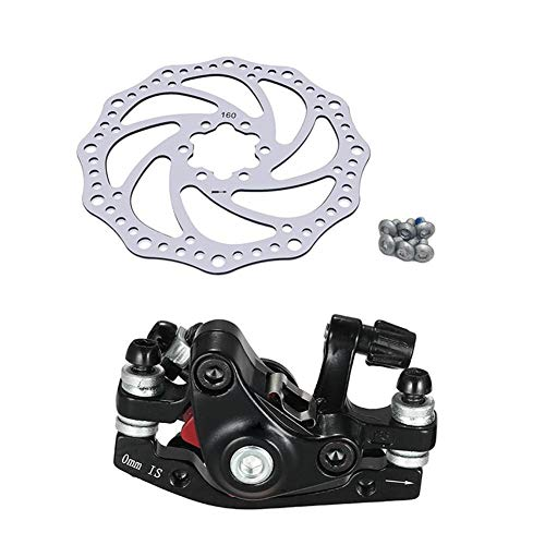 LuckyMAO Bicycle Brakes Mountain Bike Road Bike Bicycle Aluminum Alloy Mechanical Disc Brake Set Rear Include 1pc 160mm Centerline Rotor (Color : for Front Brake)