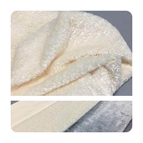Furryvalley Manta de felpa, tela minky, creativa hecha a mano para niños, para coser, certificado GRS, 100 x 75 cm, se vende por metros, color blanco