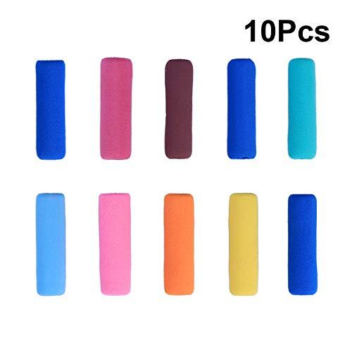 Scopri offerta per Pixnor, impugnature per matite in gomma morbida, antiscivolo, per proteggere le dita, confezione da 10 (colore casuale)