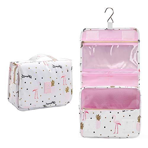 Unisex Hanging Travel Toiletry Bag (Pink Pineapple)