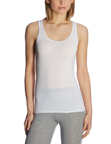 Schiesser Damen Trägertop Unterhemd, Weiß (100-weiss), 44 (XXL)