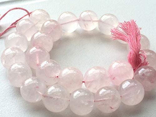 GemAbyss Beads Gemstone 1 Strand Quartz Rose Plain Round Natural Recommended At the price