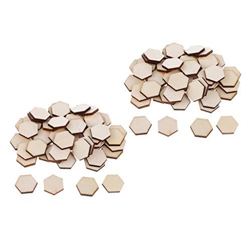 chiwanji 108 Piezas de Madera Hexagonal Recorte en Forma de Mano Hecho a Mano Sin Terminar Decoración de Madera DIY