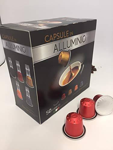Capsule alluminio compatibili Nespresso 50 capsule Mokiespresso Intenso