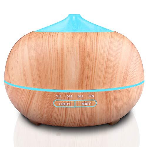 400ml Aroma Diffuser,Tenswall Ultraschall Luftbefeuchter BPA-Frei mit 7 Farben LED Lichter