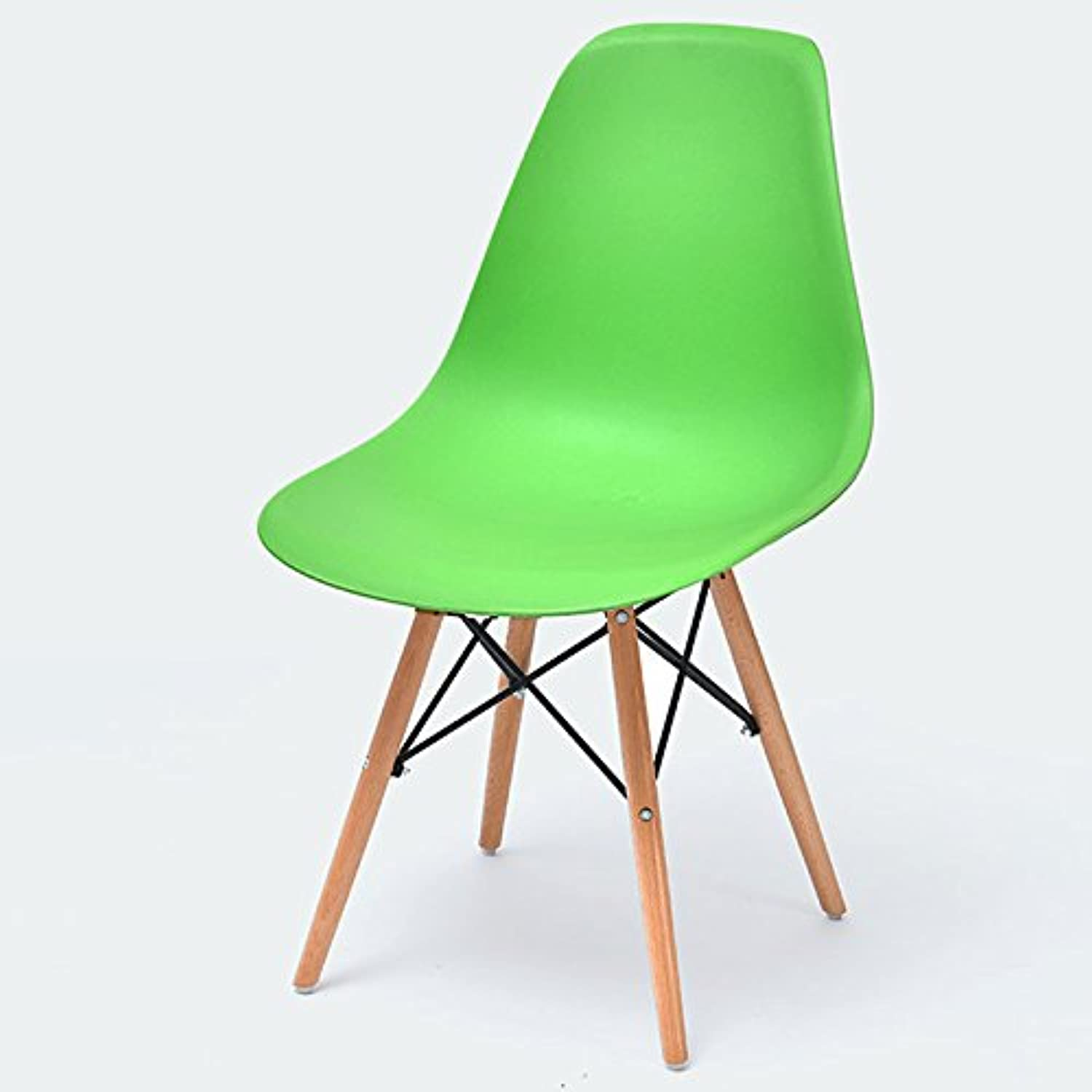 Modern Minimalist Backrest Chair, Home Desk Chair Lazy Creative Chair Nordic Dining Chair ( color   Green )