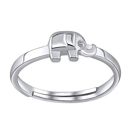 Anillo del dedo del pie plata de ley 925 elefante
