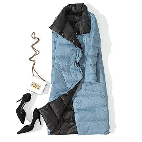 DPKDBN Dons Jack, Lange Jas Winter Coltrui Witte Eend Down Jas Dubbele Borst Warm Parkas Sneeuw Outwear
