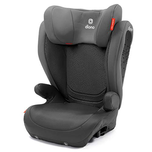 Diono Monterey 4DXT Latch, 2-in-1 Belt Positioning Forward Facing Booster Seat, High Back Booster Mode with Expandable Height, Width, 3-Layers of Protection, 10 Years 1 Car Seat, Grey Dark