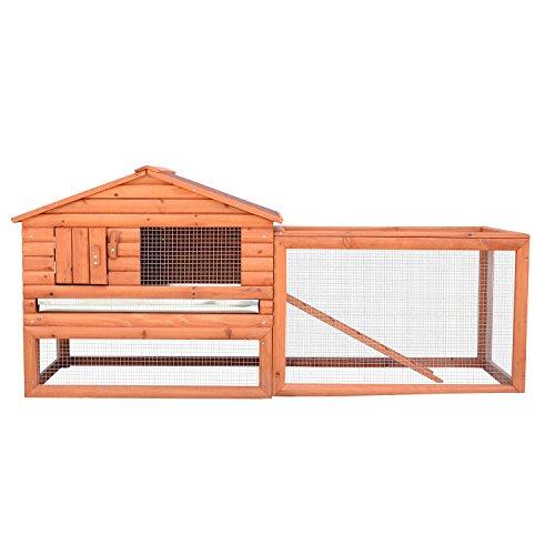 House Deals Wooden Rabbit Chicken House Hutch Coop Bunny Home Hen Pet Animal Backyard Run High Protection