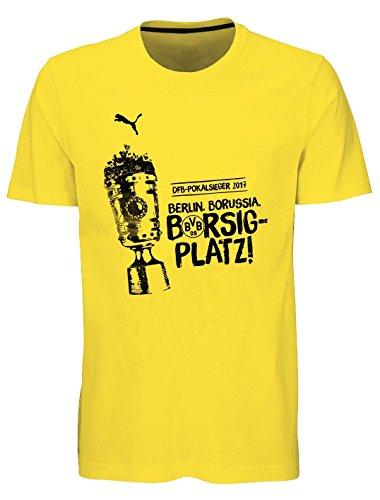 PUMA Borussia Dortmund Borsigplatz DFB - Maglietta da donna giallo. XXL