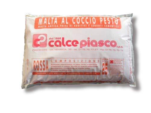 ARTIMESTIERI - Intonaco In Calce e Cocciopesto Rosa antico - Sacco Da 25 Kg.