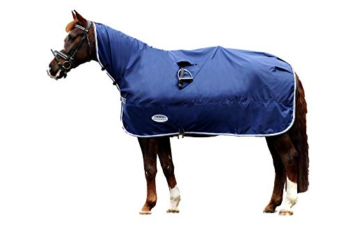 Weatherbeeta Rain Sheet, Navy/Grey/White, Full