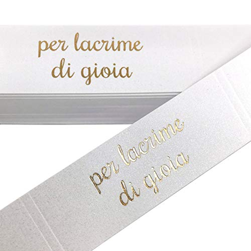 KATINGA 100 Fascette portafazzolettini da matrimonio per lacrime di Gioia (ORO 100)