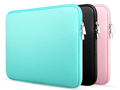 JUNGEN 12 Zoll Laptop Tasche Rechteck Notebook Briefcase Computer Tasch Tragetasche, Rosa