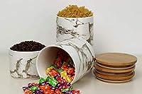 陶磁器の食品貯蔵瓶、竹の気密ふた、茶色の貯蔵の菓子屋根のキャンディーのキャンディーのキャニスター XIEJING (Color : B)