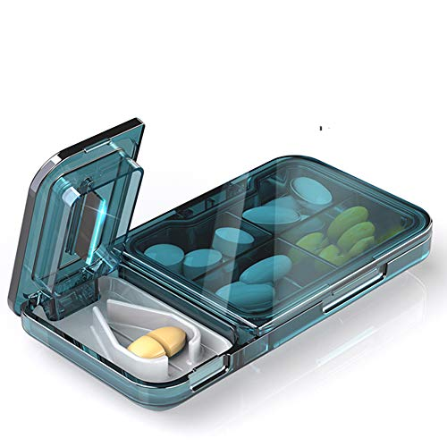 Boîte à pilules draagbare split opbergbox kleine mini cut pil split artefact grote capaciteit draagbare 7 dagen pil