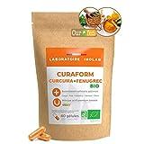 Curcuma Bio Brevettata CurQfen® | biodisponibile X 45 rispetto a un estratto di curcumina 95% + Piperina pepe nero | Risultati clinicamente provati