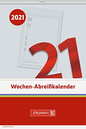 Brunnen Wochen-Abreißkalender 14x21cm, Kalendarium 2021