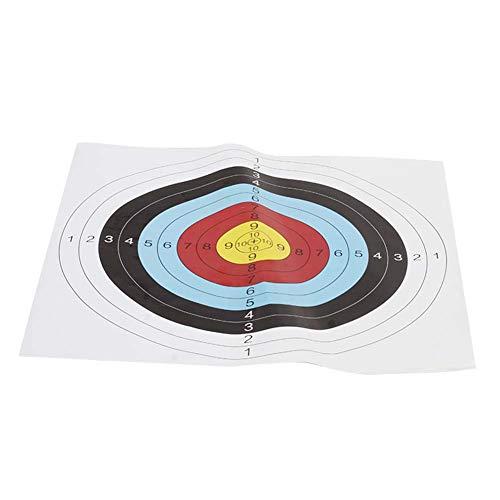 YXMG Ziel Für Das Schießen Mit Pfeil Und Bogen Ziel Papier Ziel Ziel Ziel Für Darts Bilderrahmen (10 PCS) Mit Dem Bogen 60X60cm-Karte Schießen