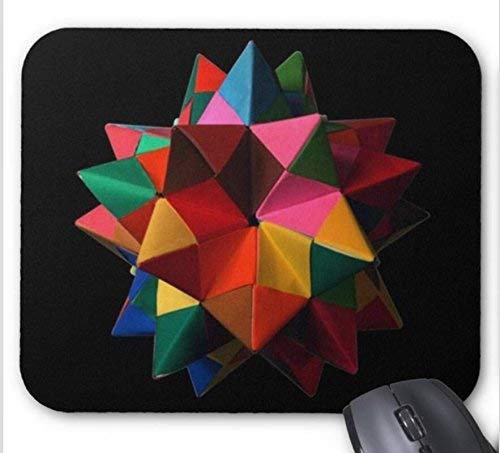 NA Alfombrilla de ratón Origami Modular Hacer icosaedro truncado pentakis dodecaedro más Imprimir Alfombrilla de ratón