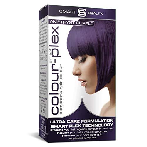 Amethyst Purple Hair Dye | Permanent purple hair color | Purple home hair coloring kit | Vegan hair dye | Not tested on animals | Smart Beauty hair colors with Smart Plex anti-breakage technology