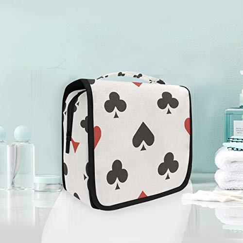 LUPINZ Poker - Sac de toilette de voyage avec motif cœurs et clubs