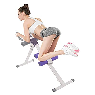 Height Adjustable Ab Trainer Abdominal Whole Body Workout Machine Waist Cruncher Core Toner, Leg, Thighs, Buttocks Shaper with LCD Monitor AB9300