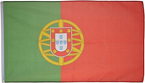 Supportershop Portugal - Banderín de córner para fútbol, Color Verde/Rojo, Talla 1,50 x 0,90 m