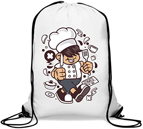 Chef Kid Home Cook Child Dope Art Mochila con cordón Informal Gym Sack