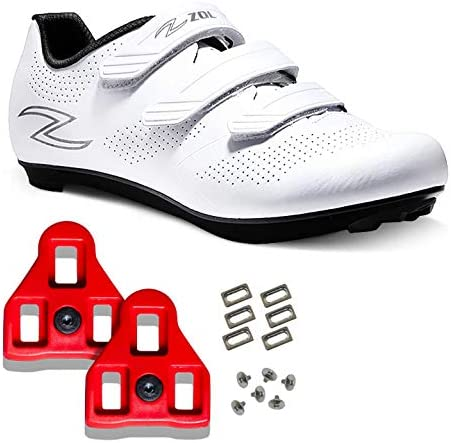 Zol Fondo Road Cycling Shoes with Delta Look Cleats Compatible with Peloton