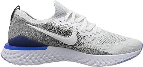 Nike Men's Epic React Flyknit 2 Running Shoes, White (White/White/Black/Racer Blue 102), 8.5 UK