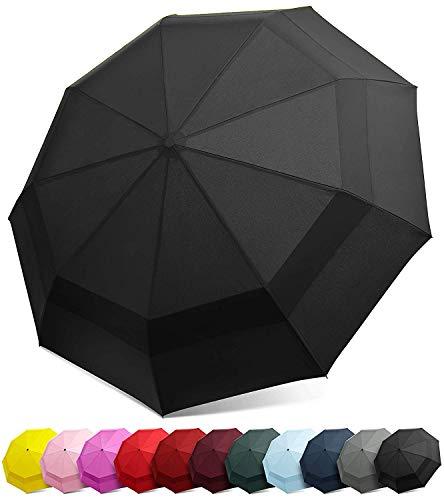 SAYGOGO Compact Travel Umbrella/Windproof Double Canopy Construction/Increase Sun Protection Umbrellas
