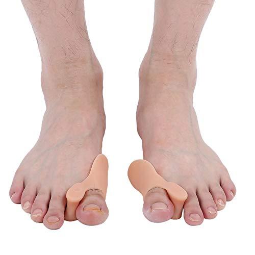 Separador de dedos de alivio, corrector de juanetes, alta elasticidad, antideslizante, corrección física, herramienta para el cuidado del alisador de dedos del pie, 10 pares(color)