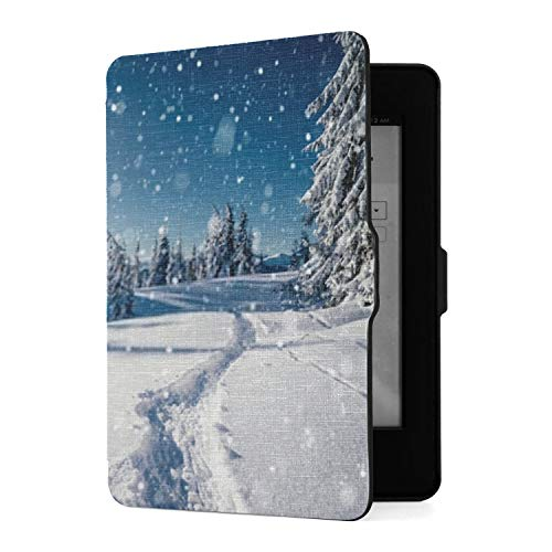 Case for Kindle Paperwhite Frosty Day Snowy Coniferous Forest Location Kindle Paperwhite 5th Generation Pu Leather Smart Cover with Auto Wake/Sleep,fits All Paperwhite Generations Prior to 2018 (not -  ZHRX, XM-4012-20200825-7145