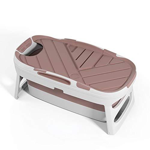 Volwassen Portable Badkuip Full Body Household kinderen te vergroten Plastic Antislip Massage douchebak (Color : Pink, Size : With cover)