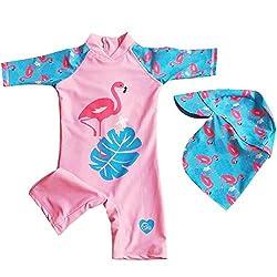 Certified UPF 50+ Easy Inseam Diaper Zipper Ferntastic Baby Swimsuit