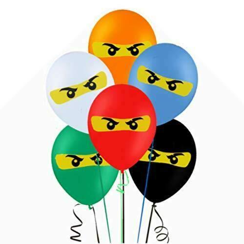 ROB 12 unidades de globos de látex NINJAGO para niños, cumpleaños, fiesta, suministros de decoración