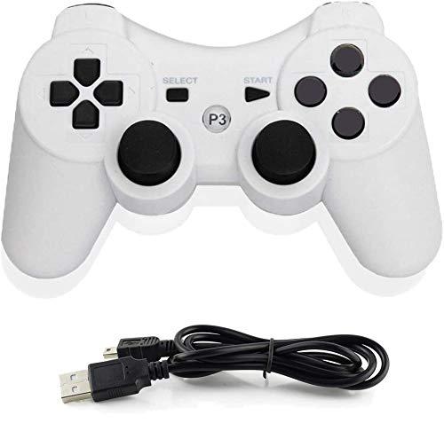 Infityle Controladores inalámbricos para PS3 Playstation 3 Dual Shock (blanco)