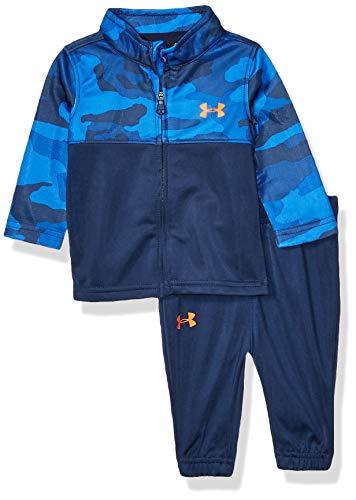 Under Armour Boys' Baby Zip Jacket and Pant Set, Powderkeg Blue F, 3/6M