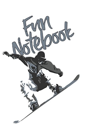 Fun Notebook: Boys Books - Mini Composition Notebook - Ages 6 -12 - Cool Snowboard Book